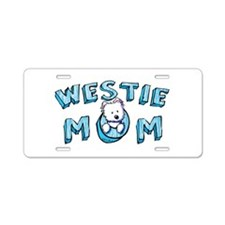 KiniArt Westie Mom Aluminum License Plate