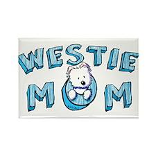 KiniArt Westie Mom Rectangle Magnet