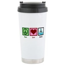 Peace Love Sharks Travel Mug