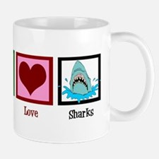 Peace Love Sharks Mug