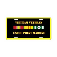 USCGC Point Marone Aluminum License Plate