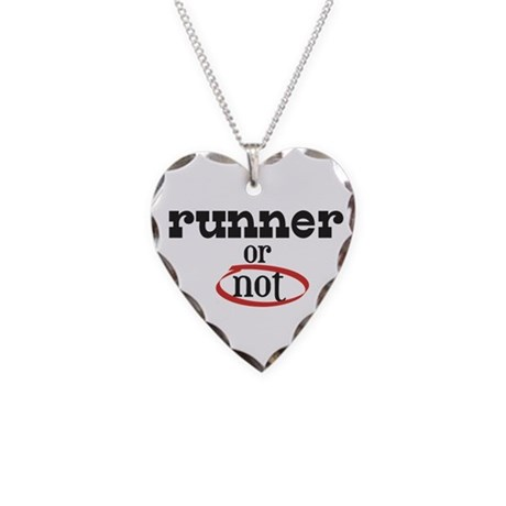 Runner or not! Necklace Heart Charm