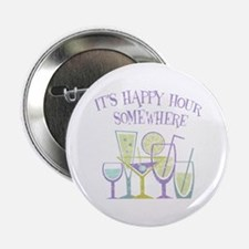 """Happy Hour [2] 2.25"""" Button"""
