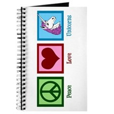 Peace Love Unicorns Journal