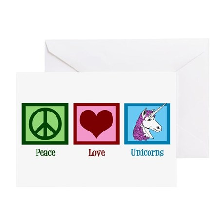 Peace Love Unicorns Greeting Card