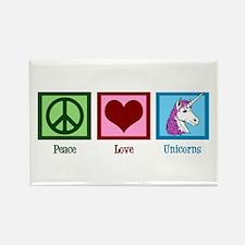 Peace Love Unicorns Rectangle Magnet