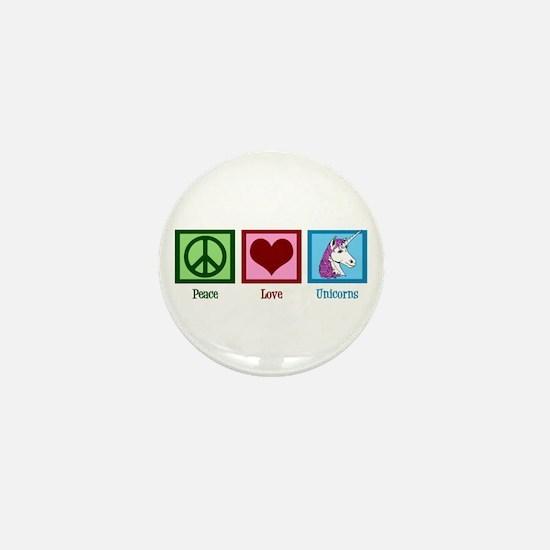 Peace Love Unicorns Mini Button