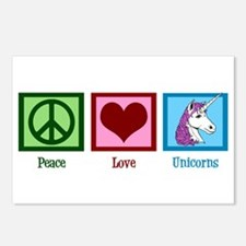 Peace Love Unicorns Postcards (Package of 8)