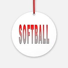 Softball Ornament (Round)