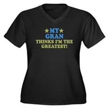My Gran Women's Plus Size V-Neck Dark T-Shirt