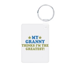 My Granny Aluminum Photo Keychain