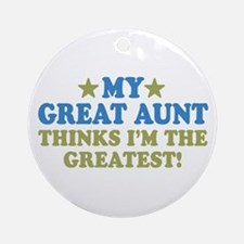 My Great Aunt Ornament (Round)