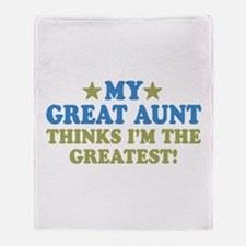 My Great Aunt Throw Blanket