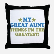My Great Aunt Throw Pillow