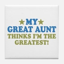 My Great Aunt Tile Coaster
