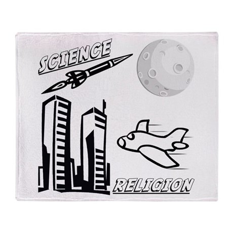 Science and Religion Throw Blanket