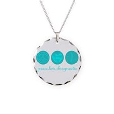 PEACE LOVE CHIROPRACTIC Necklace Circle Charm