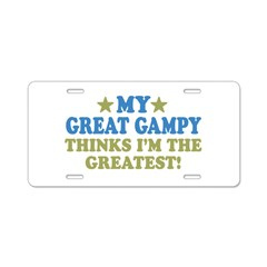 My Great Gampy Aluminum License Plate