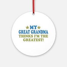 My Great Grandma Ornament (Round)