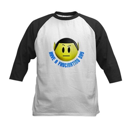 ST: Spock Smiley3 Kids Baseball Jersey