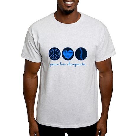 PEACE LOVE CHIROPRACTIC Light T-Shirt