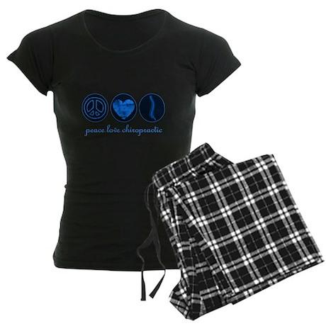 PEACE LOVE CHIROPRACTIC Women's Dark Pajamas