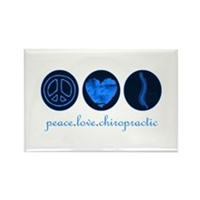PEACE LOVE CHIROPRACTIC Rectangle Magnet