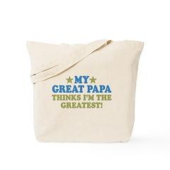 My Great Papa Tote Bag