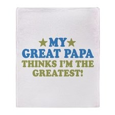 My Great Papa Throw Blanket