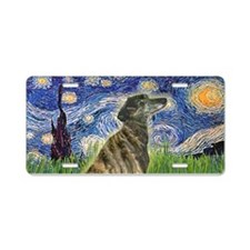 Starry - Greyhound (br) Aluminum License Plate