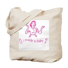 I Made A Baby Tote Bag