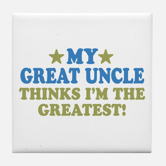 My Great Uncle Tile Coaster