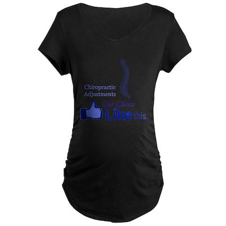 CHIROPRACTIC ADJUSTMENTS Maternity Dark T-Shirt