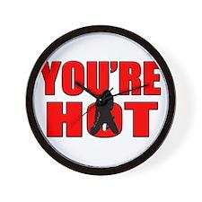 youre hot Wall Clock