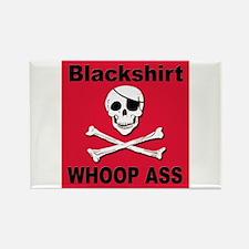 Nebraska Blackshirt Whoop Ass Rectangle Magnet
