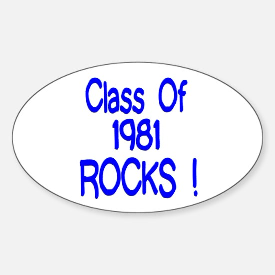 1981 blue Oval Decal