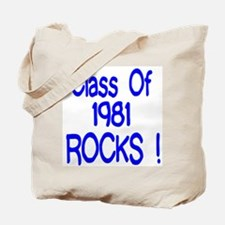 1981 blue Tote Bag