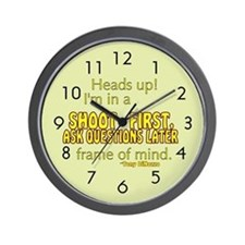 NCIS Quote: Shoot First Wall Clock