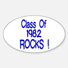1982 blue Oval Decal