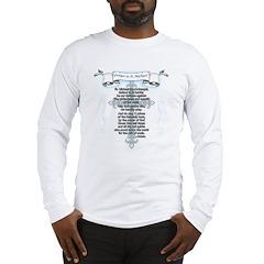 Prayer to Saint Michael Long Sleeve T-Shirt