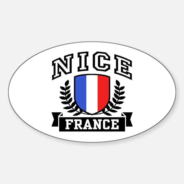 Nice France Sticker (Oval)