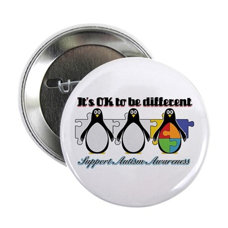 """Okay To Be Different Autism 2.25"""" Button (100 pack"""