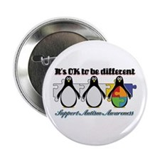 "Okay To Be Different Autism 2.25"" Button"