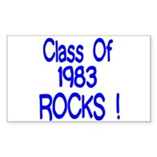 1983 blue Rectangle Decal