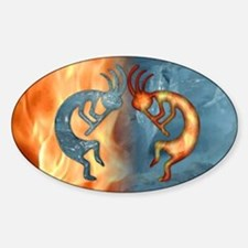 Kokopelli Fire & Ice (NEW) Oval Decal