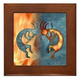 Kokopelli Framed Tiles
