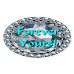 Forever Yours Sticker (Oval 50 pk)