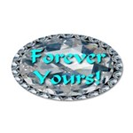 Forever Yours 38.5 x 24.5 Oval Wall Peel