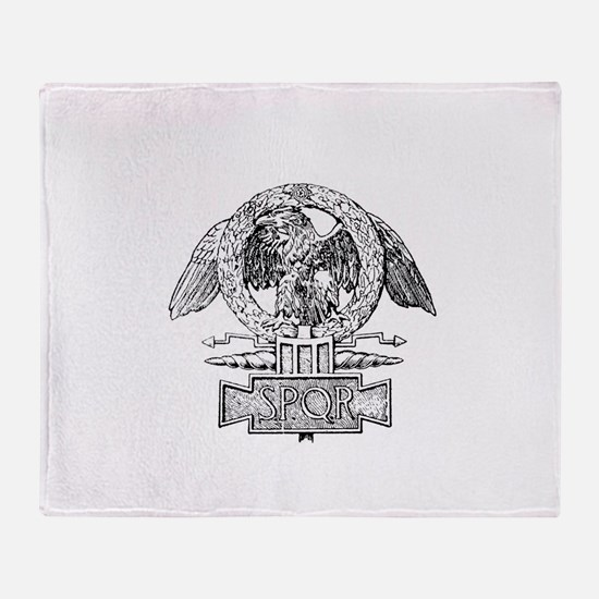 CANE SPQR Eagle Throw Blanket