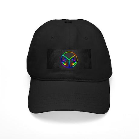Kokopelli Peace Black Cap
